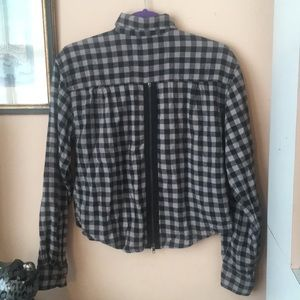Urban Outfitters Renewal plaid zip top